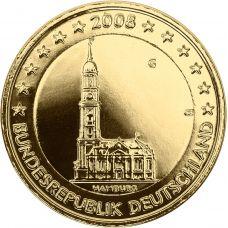 Saksa 2008 2 € Hampuri KULLATTU