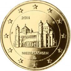 Saksa 2014 2 € Pyhän Mikaelin kirkko F KULLATTU