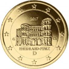 Saksa 2017 2 € Porta Nigra G KULLATTU
