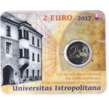 Slovakia 2017 2 € Universitas Istropolitana COINCARD