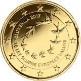 Slovenia 2017 2 € Euron 10. vuosipäivä KULLATTU