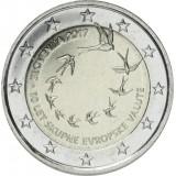 Slovenia 2017 2 € Euron 10. vuosipäivä PROOF