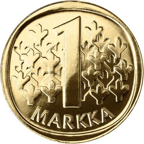 Suomi 1988 1 Markka M KULLATTU