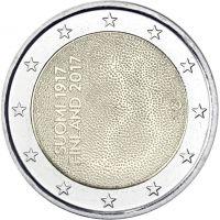 Suomi 2017 2 € Itsenäinen Suomi 100 vuotta UNC