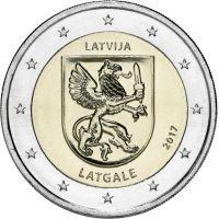 Latvia 2017 2 € Latgale UNC