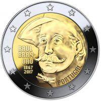 Portugali 2017 2 € Raul Brandão 150v UNC