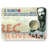 Slovakia 2015 2 € Ludovit Stur COINCARD