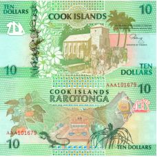 Cookinsaaret 1992 10 Dollars P8a UNC
