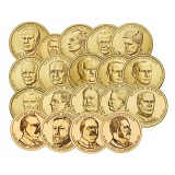 "USA 2012-2016 $1 Presidentit 21-40 Kokoelma ""D"" UNC"