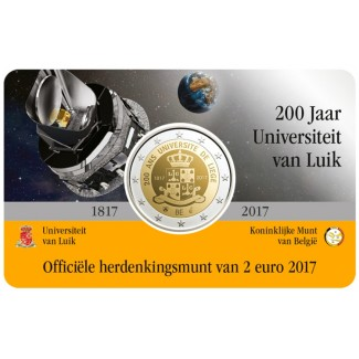 Belgia 2017 2 € Liègen yliopisto 200 vuotta, Hollanti COINCARD