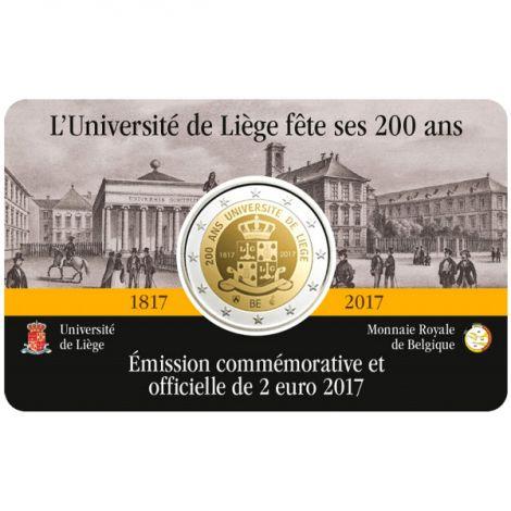 Belgia 2017 2 € Liègen yliopisto 200 vuotta, Ranska COINCARD