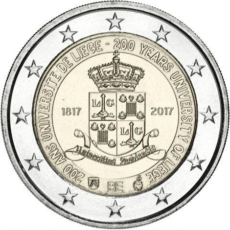 Belgia 2017 2 € Liègen yliopisto 200 vuotta UNC