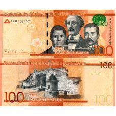 Dominikaaninen tasavalta 2014 100 Pesos Dominicanos P190 UNC