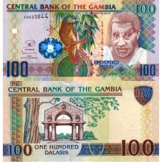 Gambia 2013 100 Dalasis P29b UNC