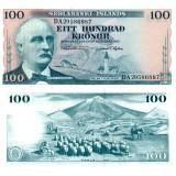 Islanti 1961 100 Kronur P44a UNC