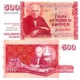 Islanti 2001 500 Kronur P58 UNC