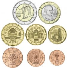 Itävalta 2018 1 c - 2 € Irtokolikot UNC