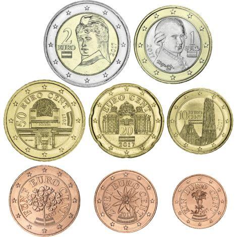 Itävalta 2021 1 c - 2 € Irtokolikot BU