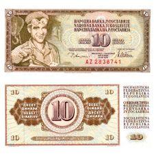 Jugoslavia 1978 10 Dinara P87a UNC
