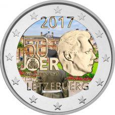 Luxemburg 2017 2 € Vapaaehtoinen asepalvelus VÄRITETTY