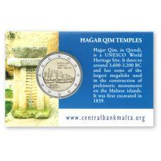 Malta 2017 2 € Hagar Qimin temppelit COINCARD