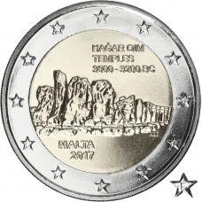 "Malta 2017 2 € Hagar Qimin temppelit ""F"" UNC"
