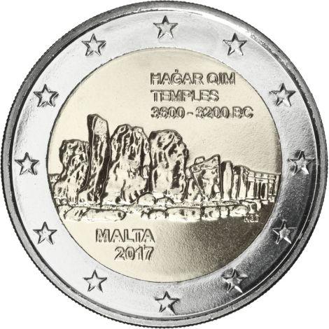 Malta 2017 2 € Hagar Qimin temppelit UNC