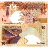 Qatar 2003 10 Riyals P22 UNC