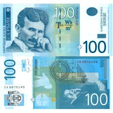 Serbia 2006 100 Dinara P49a UNC
