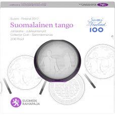 Suomi 2017 20 € Suomalainen tango HOPEA PROOF