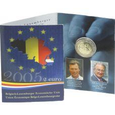 Belgia 2005 2 € Belgian ja Luxemburgin talousliitto COINCARD