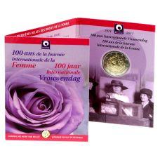 Belgia 2011 2 € Kansainvälinen naistenpäivä 100 vuotta COINCARD