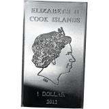Cook Islands 2012 1 Dollar 10 grammaa Valcambi 999 HOPEA