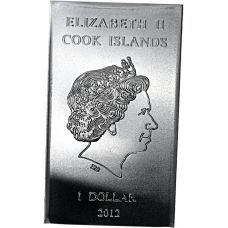 Cook Islands 2012 1 Dollar 10 grammaa Valcambi 999 HOPEA