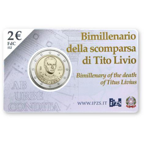 Italia 2017 2 € Titus Livius COINCARD