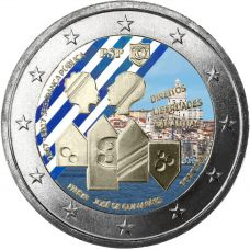 Portugali 2017 2 € Yleinen turvallisuus 150v VÄRITETTY