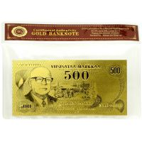 Suomi 1975 500 Markkaa KULLATTU