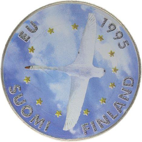 Suomi 1995 10 Markkaa EU Joutsen VÄRITETTY