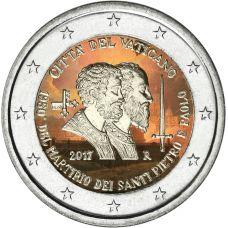 Vatikaani 2017 2 € Pyhä Pietari ja Pyhä Paavali VÄRITETTY