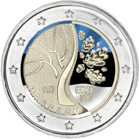 Viro 2017 2 € Viron tie itsenäistymiseen VÄRITETTY