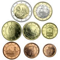 San Marino 2017 1 c - 2 € Irtokolikot UNC