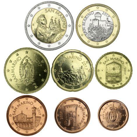 San Marino 2019 1 c - 2 € Irtokolikot UNC