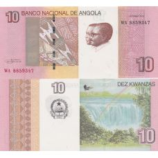 Angola 2012 10 Kwanzas UNC