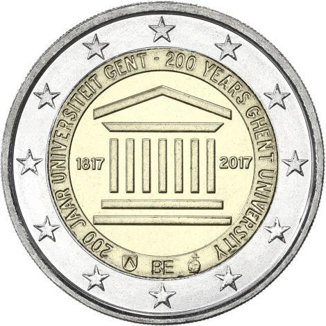 Belgia 2017 2 € Gentin yliopisto 200 vuotta UNC