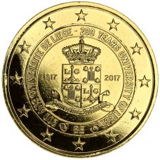 Belgia 2017 2 € Liègen yliopisto 200 vuotta KULLATTU