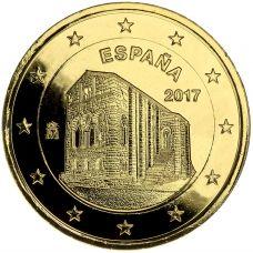 Espanja 2017 2 € Asturiasin kuningaskunnan kirkot KULLATTU