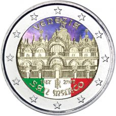 Italia 2017 2 € San Marco VÄRITETTY