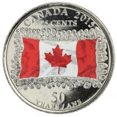 Kanada 2015 25 Cents VÄRITETTY