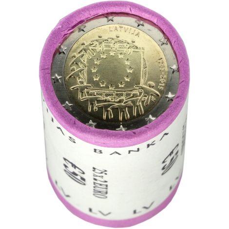 Latvia 2015 2 € EU:n lippu 30v RULLA