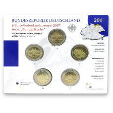 Saksa 2007 2 € Schwerinin linna ADFGJ BU